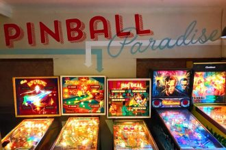 Inside of Pinball Paradise in Melbourne