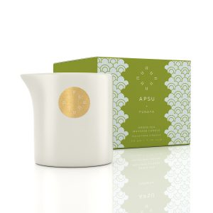 green tea candle with little spout