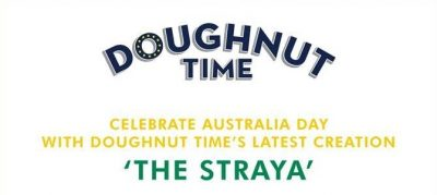 banner saying 'doughnut time'