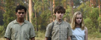 image of Jasper Charlie and Eliza in the woods
