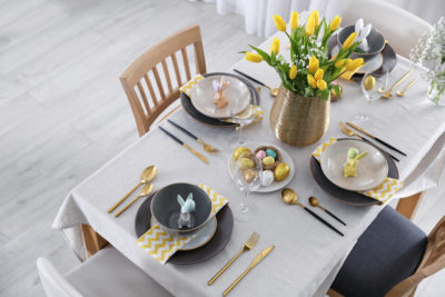 Beautiful Easter Table Setting. Image by New Africa via Shutterstock.
