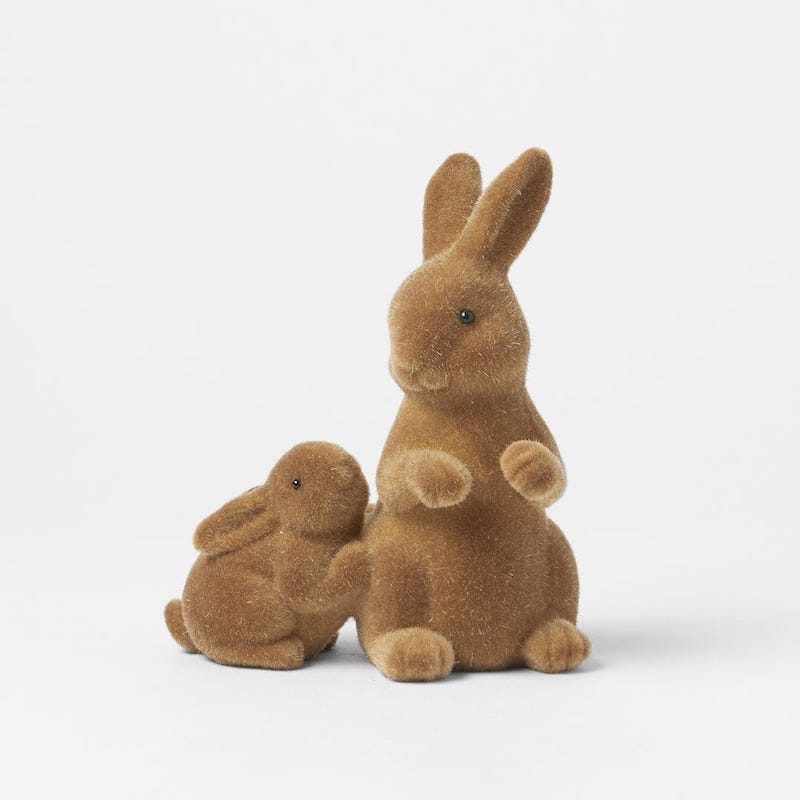 Morgan and Finch Fuzzy Mummy and Baby Bunny. Image via Bed Bath and Table website.