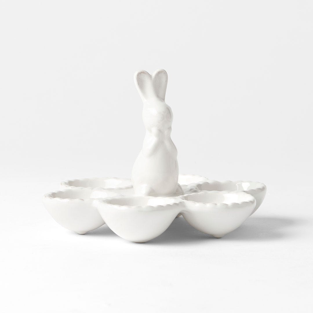 Morgan and Finch Rabbit Egg Round Plate. Image via Bed Bath and Table website.