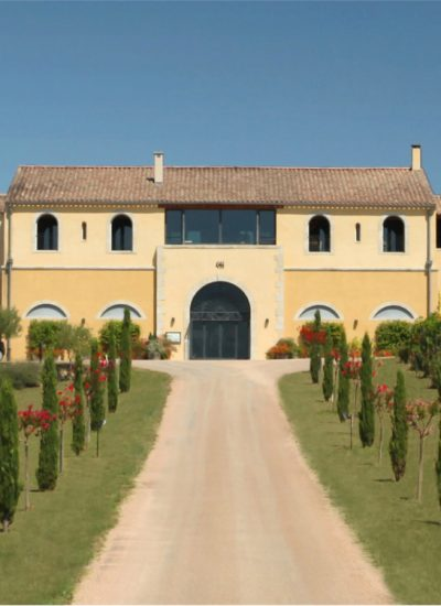 french winery with long driveway