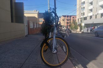 oBike parked in Marrickville. Image: Supplied