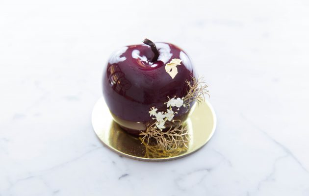 Xmas Cherry - Morello cherry mousse, cherry and chocolate ganache, fruit mince soaked in brandy. Image: Supplied