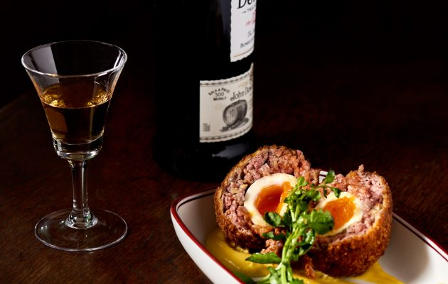 Scotch egg with hot English mustard. Image: Supplied