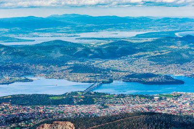 Aerial view of Hobart. Image: Greg Brave