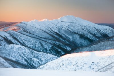 6 Best Places to Enjoy Snow In Australia In Winter. Mt Feathertop, Mt Hotham, Victoria, Australia. Photographed by FiledIMAGE. Image via Shutterstock.