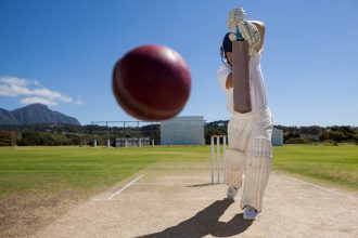 Batsmen Plays Cricket. Image by Wavebreak Media via Shutterstock.