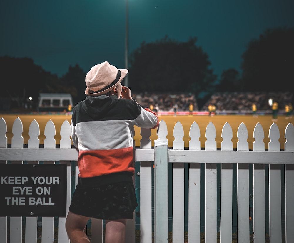 Cricket spectator. Image by Mushtaq Hussain via Pexels.