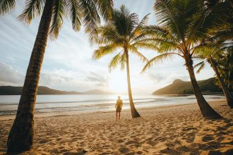 Catseye Beach, Hamilton Island. Supplied by Tourism and Events Queensland. Photographed by Jason Hill.