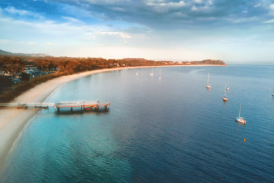 The Weekender Travel Guide to Port Stephens, New South Wales. Shoal Bay, Port Stephens. Image by Leah-Anne Thompson via Shutterstock.