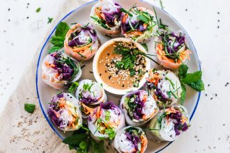 Rice Paper Rolls. Photographed by Ella Olsson. Image via Unsplash.