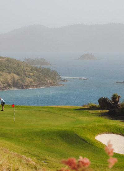 Australia's Top 16 Golf Courses of 2021. Hamilton Island Golf Club, Queensland. Photographed by Reuben Nutt. Image supplied via Tourism and Events Queensland