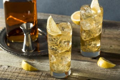 Whisky and soda cocktail. Photographed by Brent Hofacker. Image via Shutterstock.
