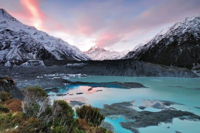 Mueller Glacier New Zealand. Photographed by Nokuro. Image via Shutterstock.