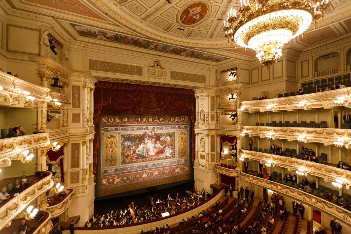 Balconies of Dresden Opera House, Germany. Image: Konstantin Tronin / Shutterstock.com