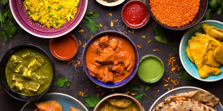 Indian food and spices. Photographed by Elena Eryomenko. Image via Shutterstock.