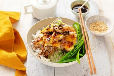 Chicken and Egg Donburi Recipe. Image supplied