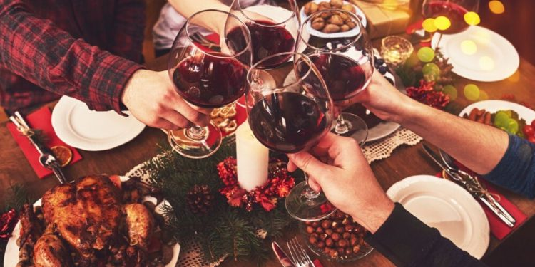Christmas Wine. Photographed by Agave Studio. Image via Shutterstock