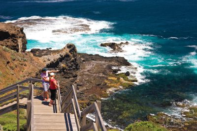Cape Schanck Boardwalk. Photographed by Derek Ross. Image supplied via Visit Victoria.