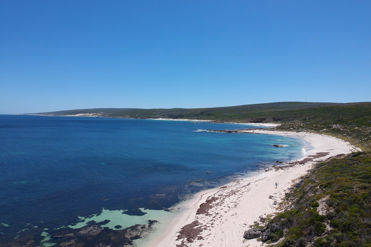 The view overlooking Kilcarnup Beach. Photogrpaher: Amy Delcaro. Image supplied.