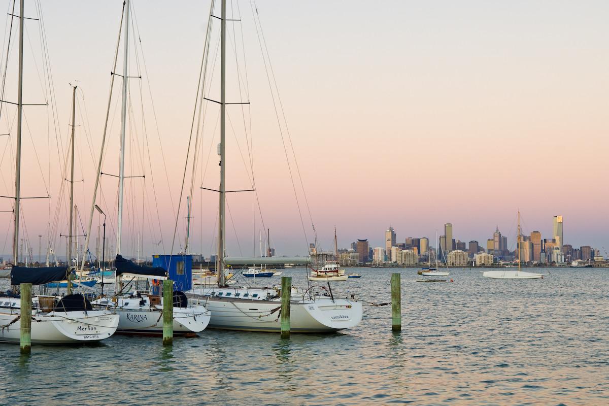 Sunset Williamstown Pier. Image supplied via Visit Victoria.