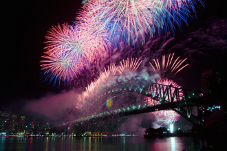 Sydney fireworks display. Photographed by mroz. Image via Shutterstock