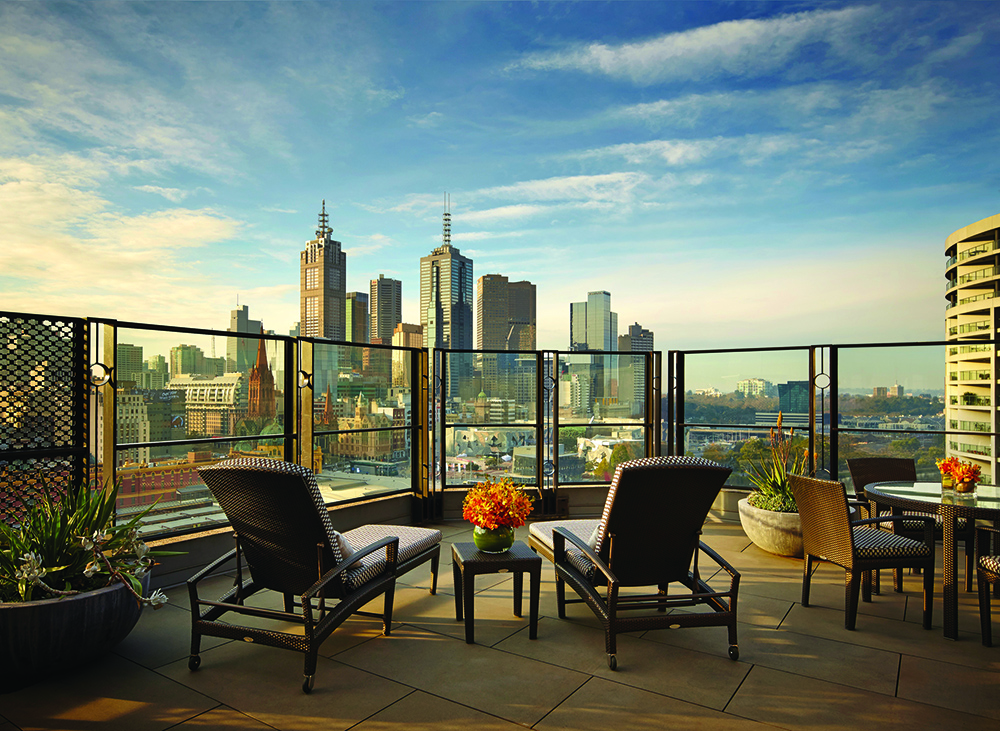 Executive Terrace Room at The Langham, Melbourne. Image provided