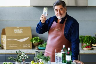 Tanqueray x Marley Spoon with Matt Preston. Image supplied