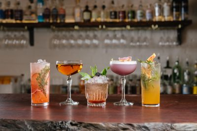 The cocktail selection at The Flour Factory. Image supplied.