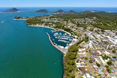 Nelson Bay. Image: Aerometrex / Shutterstock