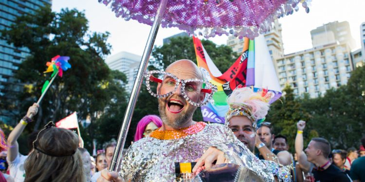 Mardi Gras Sydney, 2016. Photographed by Tripping The Light. Image via Shutterstock