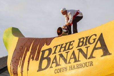 The Big Banana & Allen's Mini Chocolate Bananas. Image: Supplied