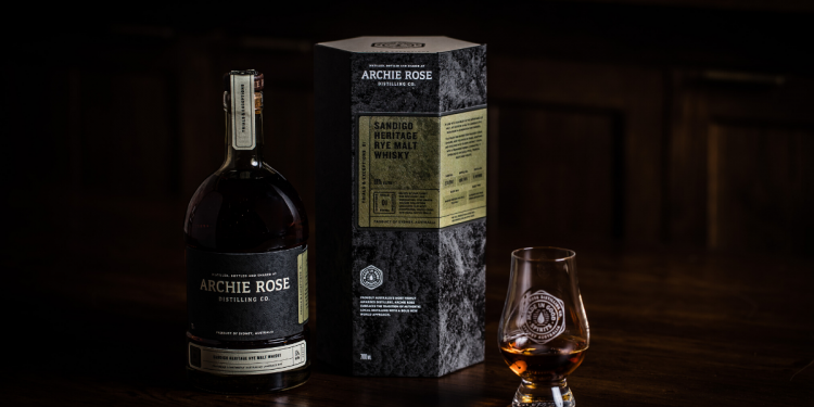 Archie Rose Distilling Co. Sandigo Heritage Rye Malt Whisky. Image supplied