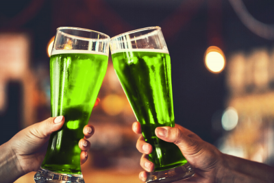 Green beer. Photographed by Ievgenii Meyer. Image via Shutterstock