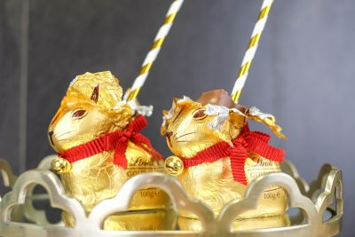 Espresso Martini filled Lindt chocolate bunnies by Cocktail Porter. Image Supplied
