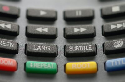 Buttons on remote