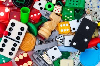 Board game pieces. Photographed by Diane C Macdonald. Image via Shutterstock