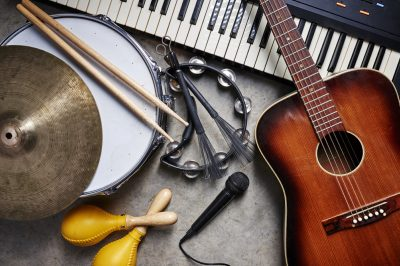 Musical Instruments. Photographed by Brian Goodman. Image via Shutterstock