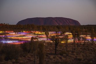 Uluru Sunset Session with First Nations music curated by Sounds Australia.