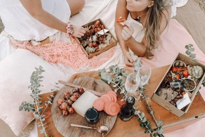 Charcuterie and Co Picnic Box Spread. Image supplied via Charcuterie and Co