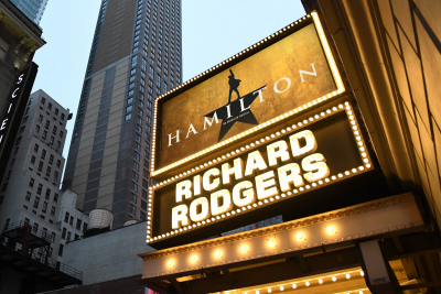 Hamilton Richard Rodgers Theatre. Photographed by Andrew Cline. Image via Shutterstock