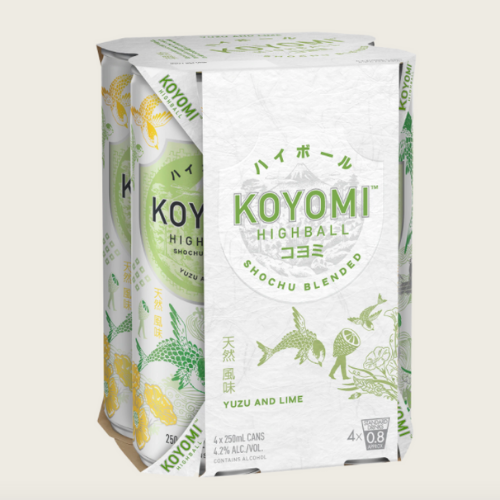 <strong>Koyomi</strong><br /> Shochu Blended Yuzu & Lime Highball