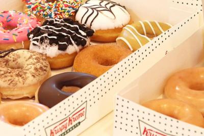 Krispy Kreme assorted Doughnuts. Image supplied