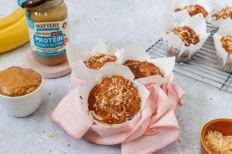 Mayver's Peanut Butter Breakfast Muffins Recipe. Image supplied