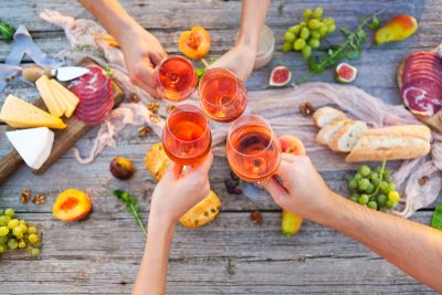 Rosé Wine. Photographed by Dasha Petrenko. Image via Shutterstock