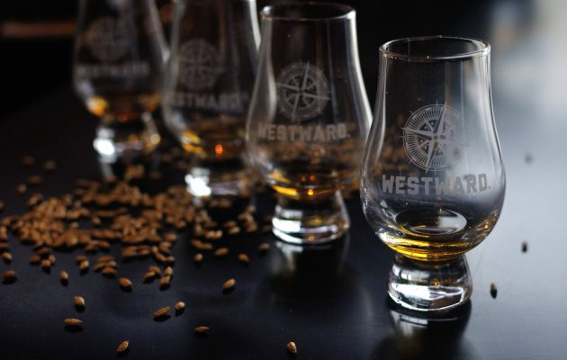 Westward Whiskey glasses. Image: Supplied