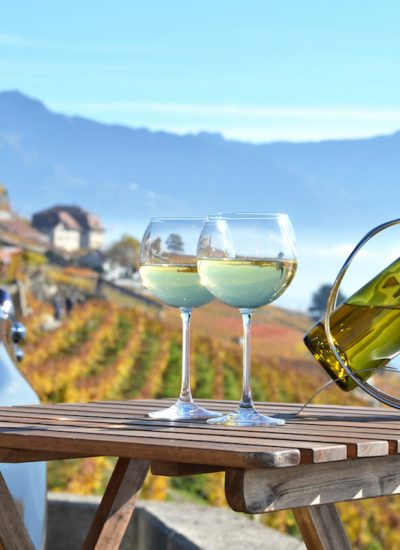 White Wine Next To Car. Image by Alexander Chaikin via Shutterstock.
